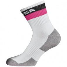 Socks STIGA Prime white/black/pink junior